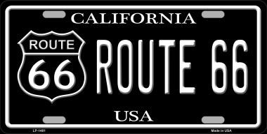 Route 66 California Metal Novelty License Plate